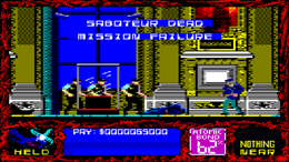 Saboteur SiO Amstrad CPC mode